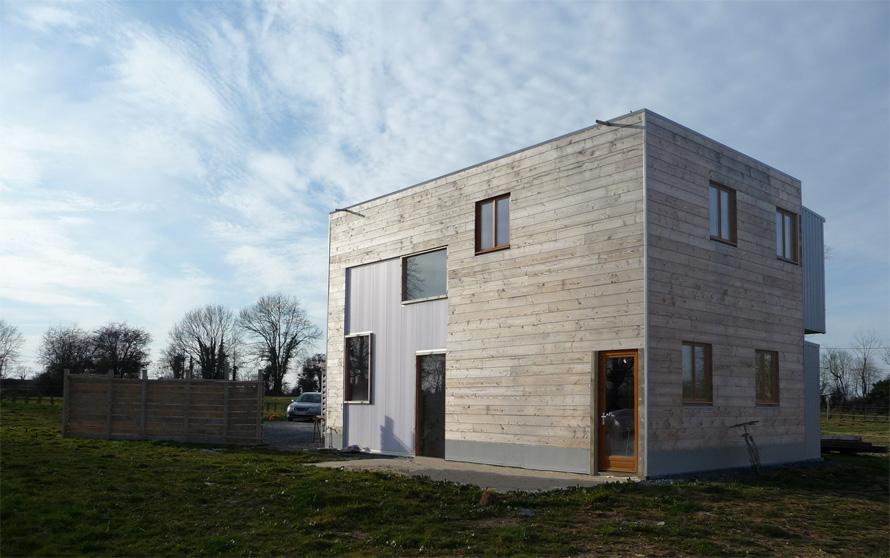 maison pilote : vue extérieure